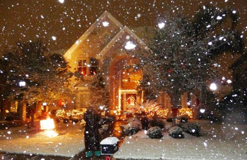 Snow in Galveston, Texas Dec. 10, 2008