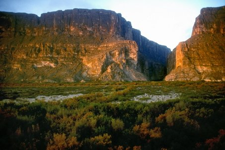 Santa Elena Canyon exit, Big Bend, Texas.  One of mine & Dave's favorite places on Earth.