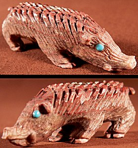 Bernie Laselute |  Price:  $75.    | Raspberry Serpentine |Javelina ||  CLICK IMAGE for more views & information.