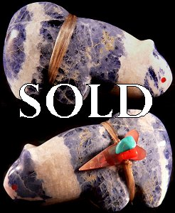 Leland Boone  | Price $45. | Sodalite | Bobcat |  CLICK IMAGE for more views & information.