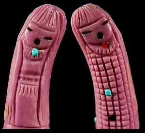 Sandra Quandelacy   | Price $95. |Phosphosiderite  | Double Corn Maidens |  CLICK IMAGE for more views & information.