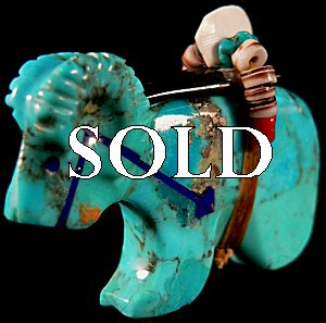 |  Price:  $75.    | Rodney Laiwakete | Turquoise Ram | CLICK IMAGE for more views & information.