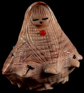 Stuart Quandelacy   | Price $135. | Conch shell | Corn Maiden  |  CLICK IMAGE for more views & information.