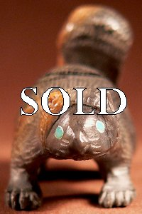 Jeff Shetima   | Price $195. | Picasso marble |  Squirrel |  CLICK IMAGE for more views & information.