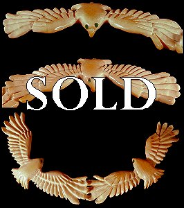 Brian Yatsattie   | Price $195. |   Fossil Ivory | Double Eagles |  CLICK IMAGE for more views & information.