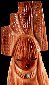 Sandra Quandelacy   | Price $295. | Fossilized Ivory | Tablita Corn Maiden  |  CLICK IMAGE for more views & information.