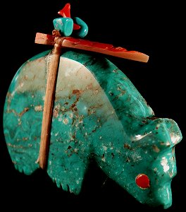 Lena Boone   | Price $72. | Turquoise | Bear  |  CLICK IMAGE for more views & information.