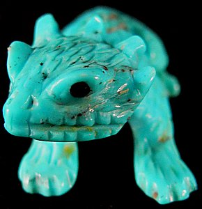 Lance Cheama   | Price $1335. | Turquoise | Baby Horned Toad |  CLICK IMAGE for more views & information.