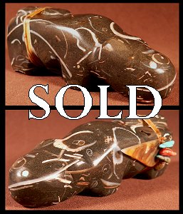Lena Boone | Price $95. | Fossil marble| Mountain Lion |  CLICK IMAGE for more views & information.