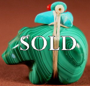 Emery Eriacho   | Price $45. | Malachite| Bear  |  CLICK IMAGE for more views & information.
