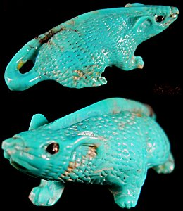 Lance Cheama   | SALE Price $125.  - (Was $150.) | Turquoise |  Mouse |  CLICK IMAGE for more views & information.