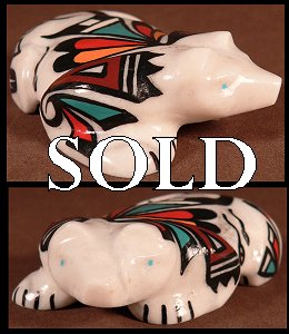 Curtis Garcia  | Price $135. | Painted marble | Badger  |  CLICK IMAGE for more views & information.