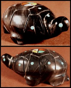 Lynn Quam   | SALE Price $54. (Was $135.) | Picasso marble| Turtle  |  CLICK IMAGE for more views & information.