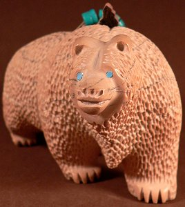 Farlon Quam  | Price $395. | Chocolate Serpentine| Large Bear |  CLICK IMAGE for more views & information.