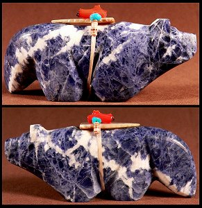 Burt Awelagte    | Price $95. | Sodalite | Wolf  |  CLICK IMAGE for more views & information.