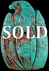Faye Quandelacy  | Price $165.  |Turquoise  |  Eagle over Maiden  |  CLICK IMAGE for more views & information.