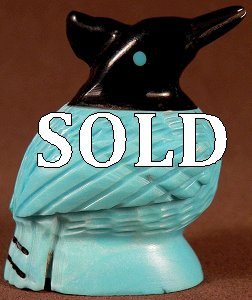 Edison Bobelu  | Price $45.  | Turquoise & Jet |  Stellar Jay |  CLICK IMAGE for more views & information.