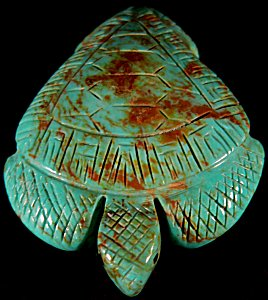 Vivella Cheama  | Price was $105.  - Now $75. | Turquoise  |  Sea Turtle |  CLICK IMAGE for more views & information.