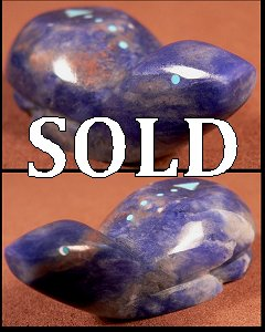 Abby Quam & Clayton Panteah  |  Price $48.   | Sodalite |  Turtle |  CLICK IMAGE for more views & information.