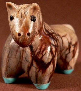 Hayes Leekya |  Price $65.   | Picasso marble |  Horse|  CLICK IMAGE for more views & information.