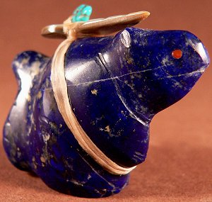 Leland Boone | Gem Afghan Lapis | Squirrel | Price: $125. |  CLICK  IMAGE for more views & information.