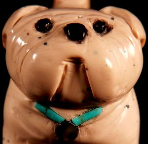 Felicia Martinez | Chocolate Serpentine | Bulldog | Price: $105. |  CLICK  IMAGE for more views & information.