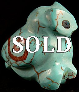 Jayne Quam | Turquoise | Inlaid Owl | Price $150.   |  CLICK IMAGE for more views & information.