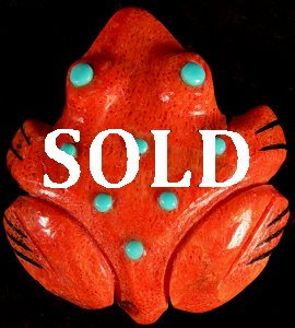 Andrew & Laura Quam | Apple Coral | Frog | Price was $75.  - Now $48. |  CLICK  IMAGE for more views & information.