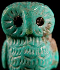 Christine Banteah | Turquoise | Owl | Price $75.   |  CLICK IMAGE for more views & information.
