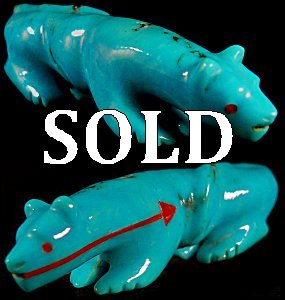 Andres Quandelacy | Turquoise | Mountain Lion | Price $195.   |  CLICK IMAGE for more views & information.