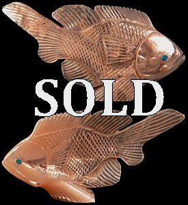 Hudson Sandy | Mother of Pearl | Fish | Price was $165.  - Now $125.|   CLICK  IMAGE for more views & information.