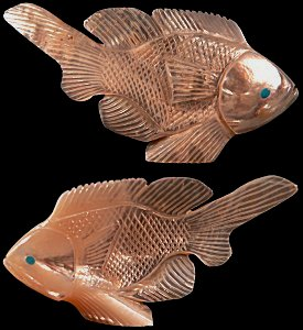Hudson Sandy | Mother of Pearl | Fish | Price: $165. |   CLICK  IMAGE for more views & information.