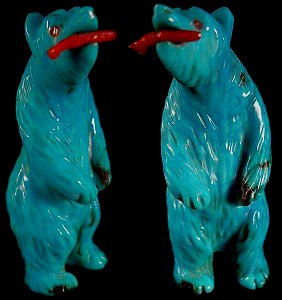 Andres Quandelacy | Turquoise | Standing Bear | Price: $135 | CLICK  IMAGE for more views & information.