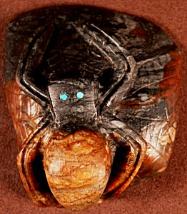Michael Coble | Picasso marble | Spider on a rock | Price: $125.  |CLICK  IMAGE for more views & information.