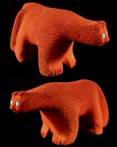 Alvin Calavaza | Sandstone | Old Style Mountain Lion | Price:  $95.  |CLICK  IMAGE for more views & information.