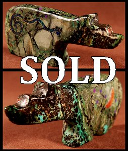 Jayne Quam | Copper Complex | Inlaid Bear | Price: $75. |CLICK  IMAGE for more views & information.