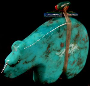 Emery Eriacho | Turquoise | Bear | Price: $75. |CLICK  IMAGE for more views & information.
