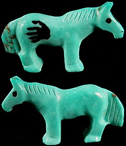 Carol Martinez | Turquoise | Horse | Price: $48. |CLICK  IMAGE for more views & information.