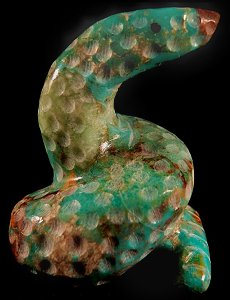 Russell Shack | Turquoise & Cuprite | Snake | Price: $135.  |CLICK  IMAGE for more views & information.