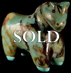 Hayes Leekya | Horse | Turquoise | Price: $54. |CLICK  IMAGE for more views & information.