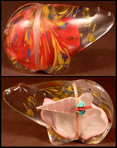 Leland Boone | Murano glass | Bobcat | Price was $125.  - Now $85.  | CLICK  IMAGE for more views & information.