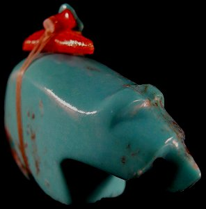 Emery Eriacho| Turquoise  | Bear | Price: $54. + 8.50 domestic shipping  | CLICK  IMAGE for more views & information.