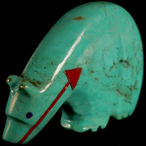 Georgia Quandelacy |Turquoise  | Medicine Bear |  Price: $90. |CLICK  IMAGE for more views & information.