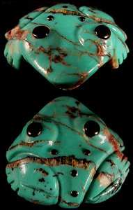 Georgette Quam | Frog | Turquoise| Price: $36. |CLICK  IMAGE for more views & information.