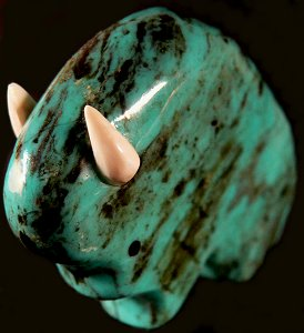 Lynn Quam | Turquoise  | Buffalo  | Price: $95.  | CLICK  IMAGE for more views & information.