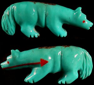 Andres Quandelacy | Wolf | Turquoise  | Price: $150. |CLICK  IMAGE for more views & information.