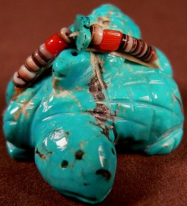 Annette Tsikewa | Turquoise   | Double lizards  | Price: $60. +  $9.25  domestic shipping | CLICK  IMAGE for more views & information.
