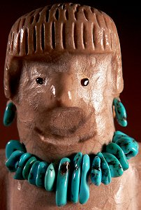 Hayes Leekya | Zuni rock   | Matron   | Price: $150. +  $9.25  domestic shipping | CLICK  IMAGE for more views & information.
