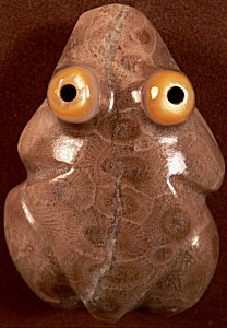 Bernard Homer, Jr. | Petosky stone | Frog | $95.  |CLICK  IMAGE for more views & information.