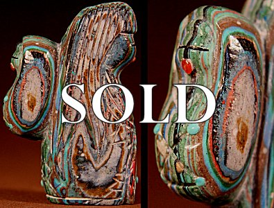 Michael Laweeka |  Rainbow Calsilica  | Maiden and Child  | Price: $54. +  $9.25  domestic shipping | Texas sales tax applies to Texas Residents! | CLICK  IMAGE for more views & information. | Authentic Zuni fetishes direct from Zuni Pueblo to YOU from Zunispirits.com!